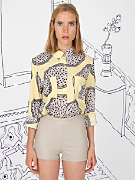 Nathalie Du Pasquier Nina Print Basic Button-Up Blouse