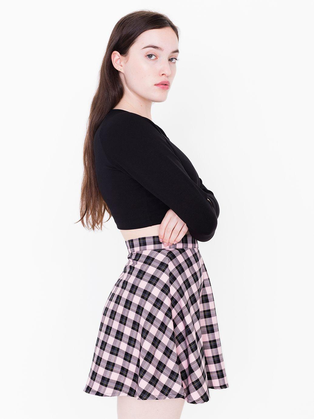 Plaid Circle Skirt | American Apparel