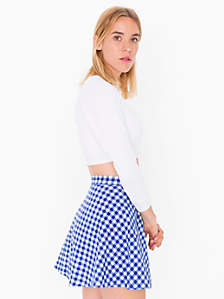 Gingham Corduroy Circle Skirt