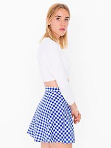 Gingham Corduroy Circle Skirt