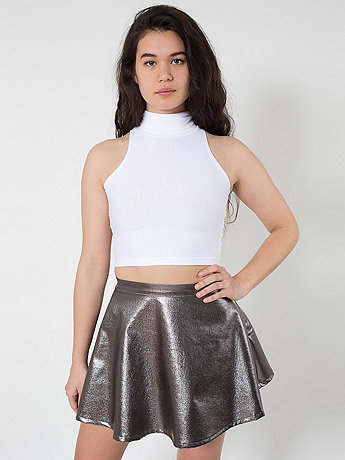 Lamé Denim Circle Skirt