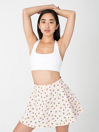 Printed Corduroy Circle Skirt