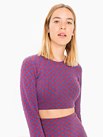 Long Sleeve Crop Raglan Jacquard Sweater