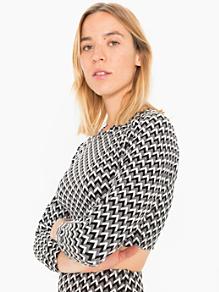 Long Sleeve Crop Raglan Jacquard Sweater