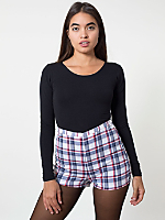 Plaid Basic Tap Short
