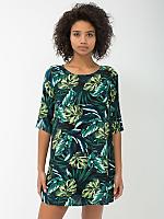 Jungle Leaves Print Tent Dress