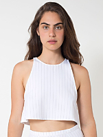 The Pinstripe Print Lolita Crop