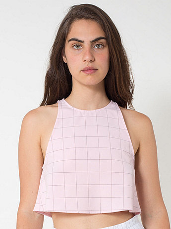 The Grid Print Lulu Crop