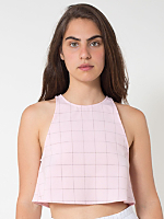The Grid Print Lolita Crop