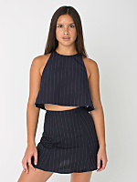 The Pinstripe Print Lulu Mini Skirt