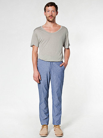 Chambray Welt Pocket Pant