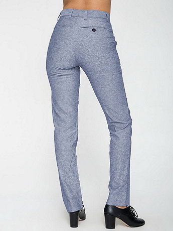 Unisex Chambray Welt Pocket Pant