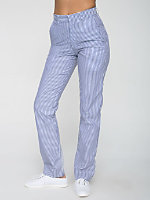 Unisex Stripe Poly-Cotton Welt Pocket Pant
