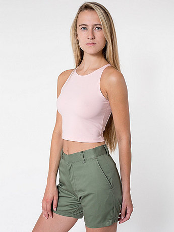 Unisex Cotton Twill Welt Pocket Short