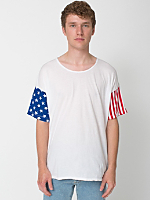Stars and Stripes Printed Le New Big Tee