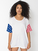 Unisex Stars and Stripes Printed Le New Big Tee