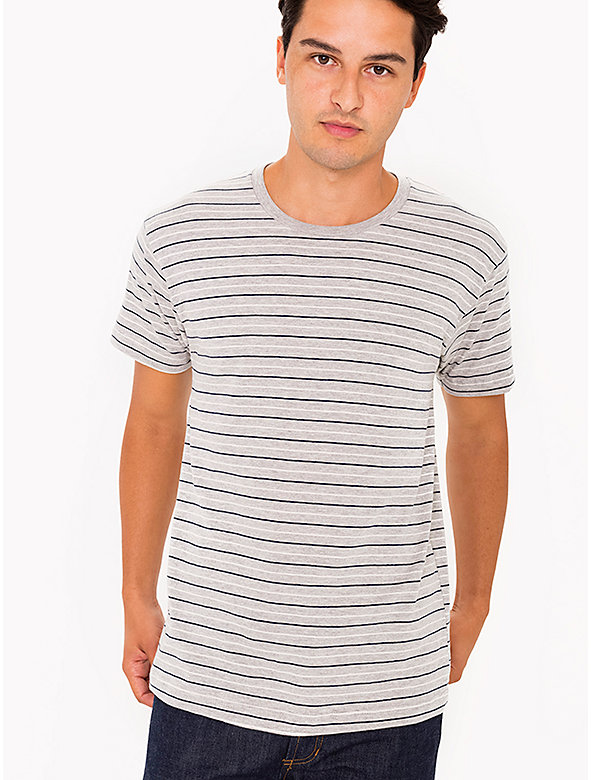 Striped Cotton Crewneck T-Shirt