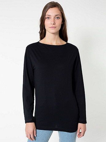Unisex Long Sleeve Boat Neck Shirt
