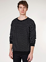 Polka Dot Drop-Shoulder Sweater