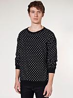 Polka Dot Drop-Shoulder Sweater