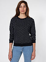 Unisex Polka Dot Drop-Shoulder Sweater