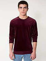 Velour Drop-Shoulder Sweater