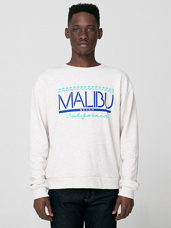 Malibu Screen Printed Drop-Shoulder Sweater