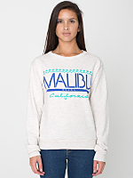 Unisex Malibu Screen Printed Drop-Shoulder Sweater