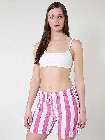 Unisex Striped Chambray Kool Short