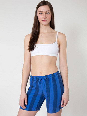 Unisex Striped Chambray Kool Short