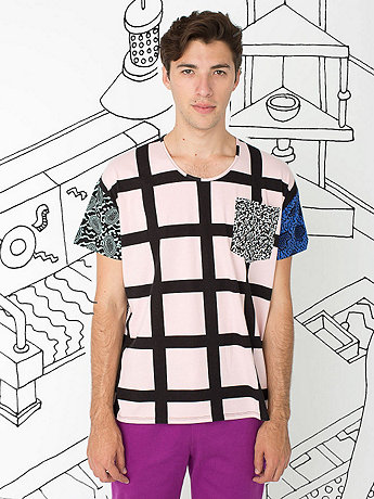 Nathalie Du Pasquier Gaza Mix Print Le New Big Pocket T-Shirt