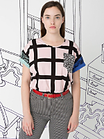 Unisex Nathalie Du Pasquier Gaza Mix Print Le New Big Pocket T-Shirt