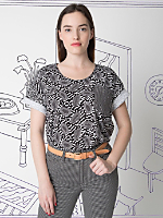 Nathalie Du Pasquier Unisex Mini Print Le New Big Pocket T-Shirt