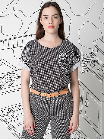 Nathalie Du Pasquier Unisex Pia Print Le New Big Pocket T-Shirt
