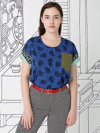Nathalie Du Pasquier Unisex Zeta Mix Print Le New Big Pocket T-Shirt