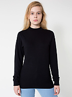Unisex Long Sleeve Mock Neck Tee