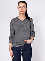 Unisex Knit Long Sleeve Henley