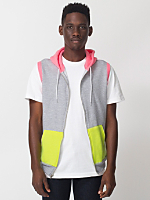 Color Block Sleeveless Zip Hoodie