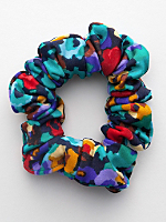 Watercolor Nylon Tricot Scrunchie