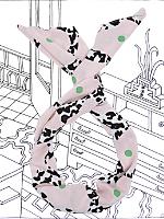 Nathalie Du Pasquier Mama Print Twist Scarf