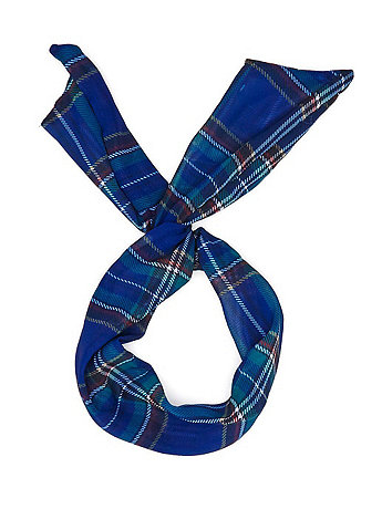 Plaid Chiffon Twist Scarf