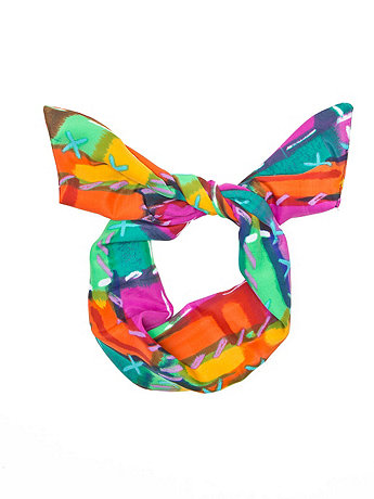 Printed Polyester Twist Scarf