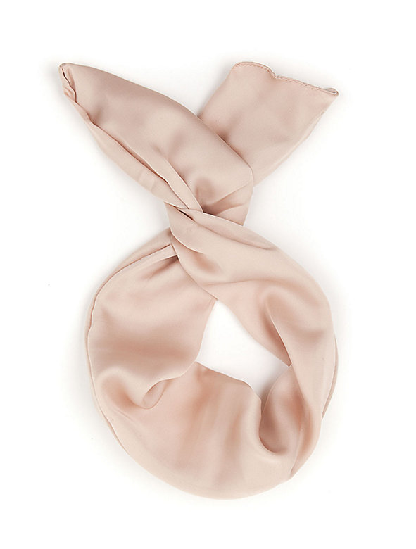 Poly Silk Twist Scarf