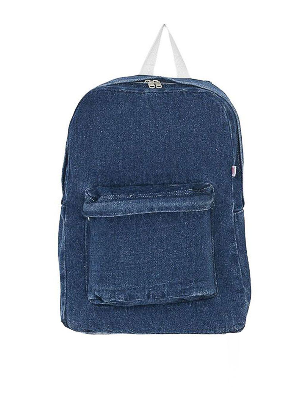 デニムキャンバススクールバッグ