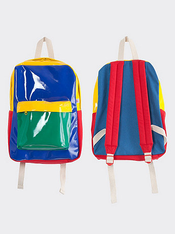 Kindergarten Color Block School Bag