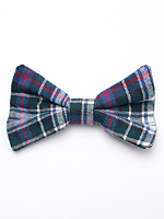 Plaid Flannel Bow Hair Clip