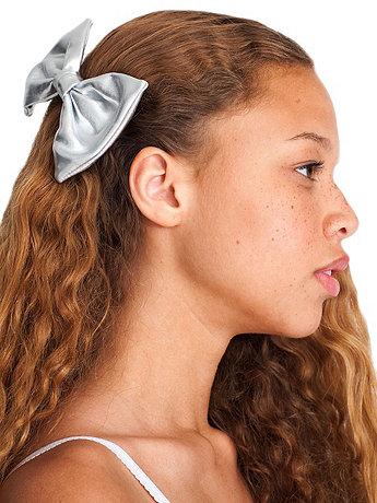 Lamé Bow Hair Clip