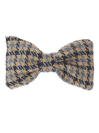 Small Houndstooth Bow Hair Clip