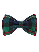 Plaid Small Bow Hair Clip