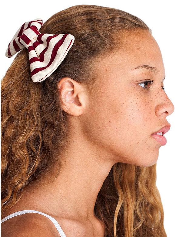 Sailor Stripe Bow Hair Clip